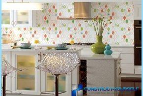 Optionen für die Küche-Hintergrund mit Fotos