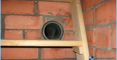 Lüftung im Keller eines Privathauses