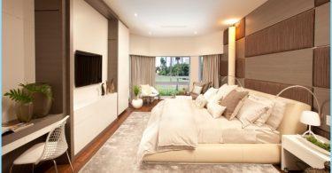 Schlafzimmer Interieur im modernen Stil