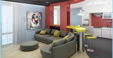 Optionen für Zoning Wohnzimmer und Küche