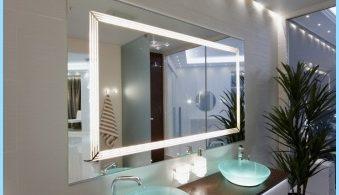 Lichtspiegel in das Innere eines Badezimmers