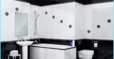 Das Design von schwarzen und weißen Badezimmer
