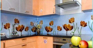 Die Installation von Glas in der Küche Schürze