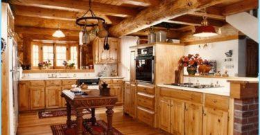 Küche in einem Holzhaus - ein modernes Design in der Hütte