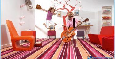 Der Fußboden im Kinderzimmer