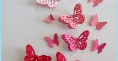 Dekorative Schmetterlinge, die Wände zu dekorieren