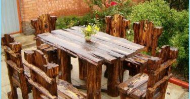 Wie man eine Holzhütte Tisch machen