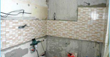 Das Layout der Verdrahtung im Badezimmer