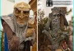 Holzplattformdeck für ein Landhaus: der Meister mit seinen eigenen Händen