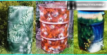 Blumenbeet-Hilfe-Kasten in ihrem Sommerhaus: wie Kräuter wachsen